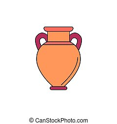 Amphora icon, cartoon style