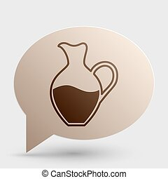 Amphora sign. Brown gradient icon on bubble with shadow.