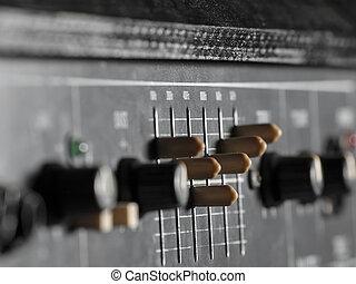amplificador, guitarra, baixo