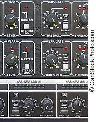 Amplifier - Front panel of professional amplifier board