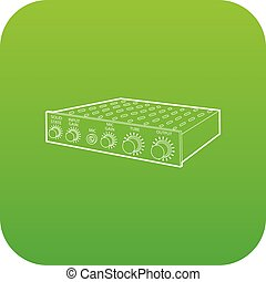 Amplifier icon green vector