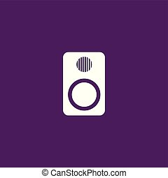 Amplifier icon illustration isolated vector.