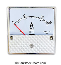 Ampmeter isolated on a white background