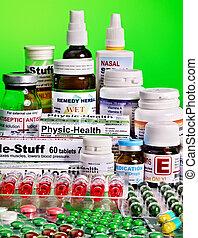 ampolla, pills., remedy., paquete