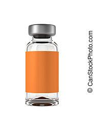 ampolla, solo, médico, aislado