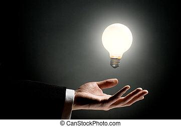 ampoule, éclairé