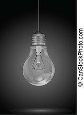 ampoule, électrique, pendre
