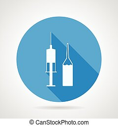 Ampoule and syringe vector icon