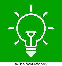 ampoule, arrière-plan vert