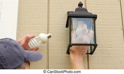 ampoule, cfl, vieux, remplacer