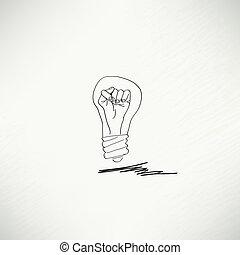 ampoule, concept, idée, icône
