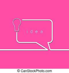 ampoule, concept, idée, lumière