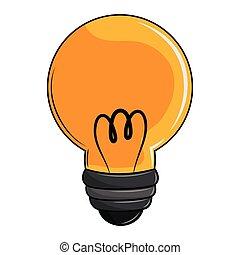 ampoule, dessin animé, lumière