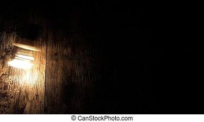 ampoule, différent, amplitude, balançoire