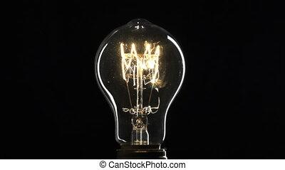 ampoule, fermé., haut., fin, lumière, virages