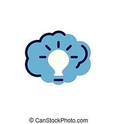 ampoule, fond blanc, nuage, lumière