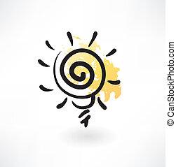 ampoule, icône