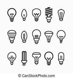 ampoule, icônes