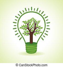 ampoule, intérieur, arbre