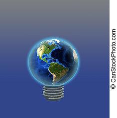 ampoule, la terre