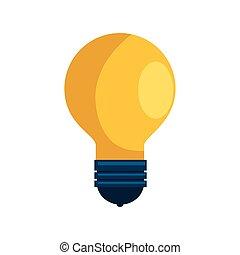 ampoule, lumière, idée, isolé, icône