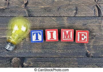ampoule, mot, temps