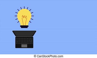 ampoule, ordinateur portable, technologie, lumière