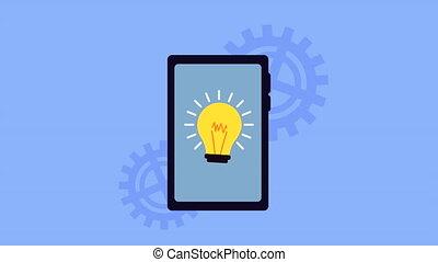 ampoule, smartphone, technologie, lumière