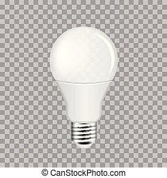 ampoule, transparent, lumière électrique, fond, mené