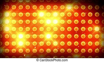 ampoules, éclairage, jaune, boucle
