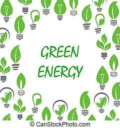 ampoules, économie, lumière, énergie, feuilles, icône