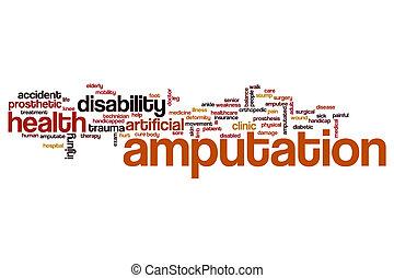 Amputation word cloud concept