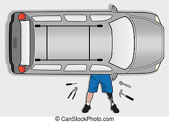 Amputee Mechanic - Left leg amputee is attempting to do his...