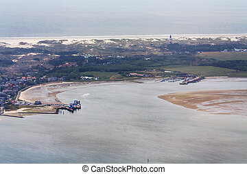 Amrum Island, Aerial Photo of the Schleswig-Holstein Wadden Sea National Park in Germany