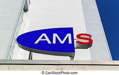 ams logo in austria - the logo of an ams in austria. labor...