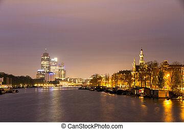 Amstel morning cityscape