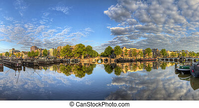 Amstel sunrise panorama