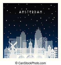 amsterdam., 冬, 夜