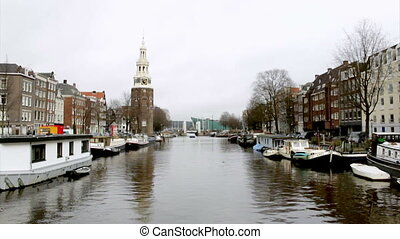 Amsterdam - 021 - Oudeschans canal - Morning winter view on...