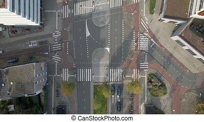 Amsterdam, 7th of November 2020, The Netherlands Wibautstraat Center of Amsterdam busy road urban
