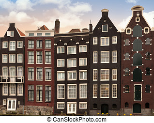 Amsterdam architectre at twilight