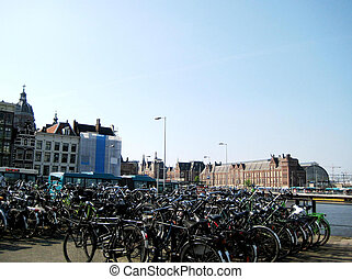 amsterdam, bicyclists