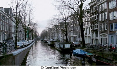 Amsterdam Bloemgracht - View of heritage city canals...