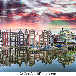 Amsterdam buildings reflections in canal