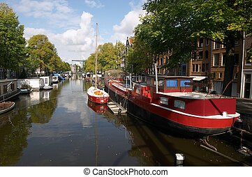Amsterdam Canal - Canal view in Amsterdam