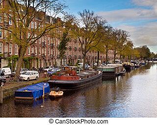 Amsterdam Canal City Scene