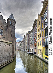 Amsterdam Canal - Historic houses on Amsterdam canal