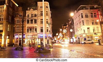 amsterdam, centre, night.