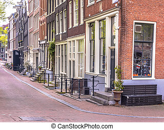 Amsterdam city centre street scene