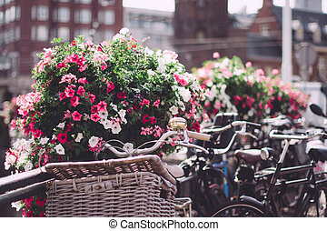 Amsterdam city, Netherlands - travel in Europe concept